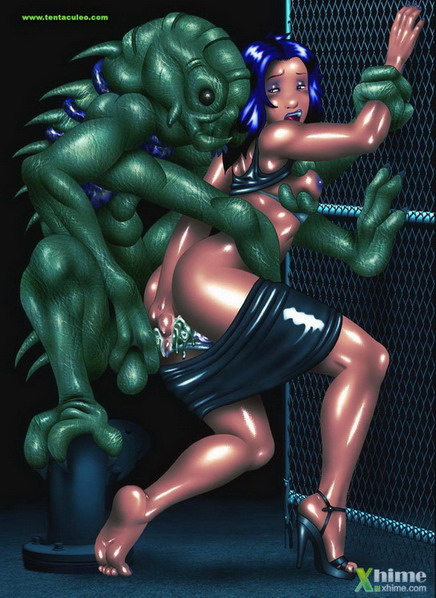 3d sex with green monsters