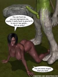 3d monster sex story - green monster