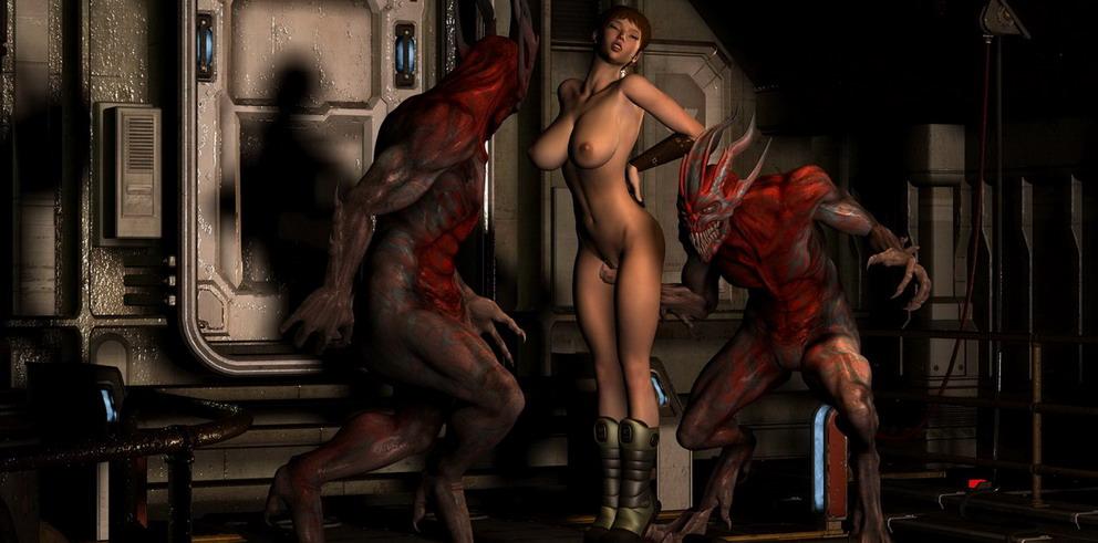 Porn monsters in 3D comics
