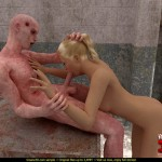 Hottest sex with monster. Amazon makes great blowjob! in Monster Sex 3D Monster Sex 3D Video  Category