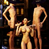 Sexy elf-girl in monster's orgy in Monster Sex 3D Video  Category