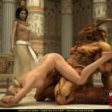 Huge monster for Egyptian empress in Monster Sex 3D Video  Category