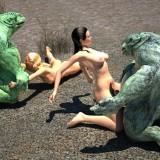Nasty monster sex in Monster Sex 3D Video  Category