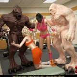 3D Scenes xxx of muscular monsters in Monster Sex 3D  Category