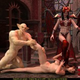 Bald demon for sinful babe in Monster Sex 3D  Category
