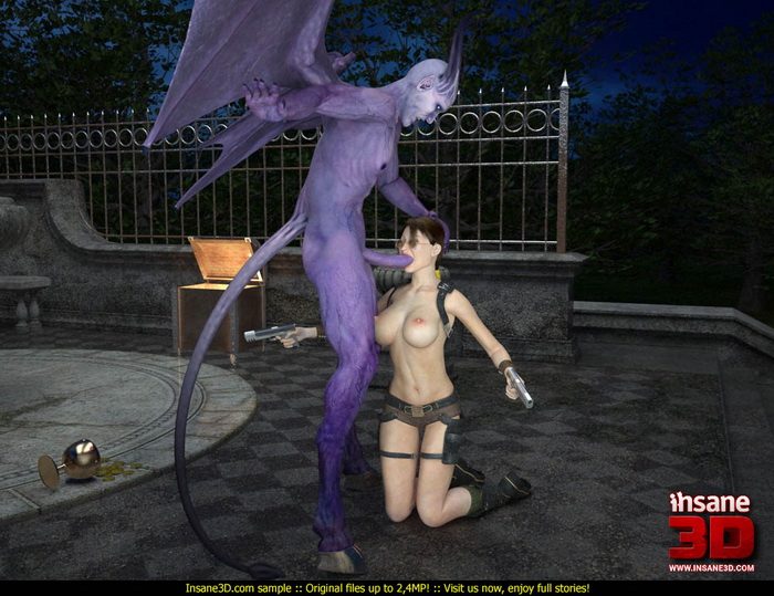 Insane3D purple monster sex