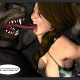 DP sex with 2 monsters in Monster Sex 3D  Category